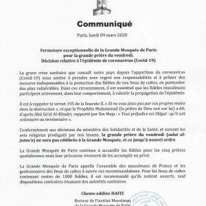 Communiqué GMdP 09.03.2020