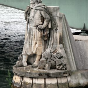 Le zouave du pont de l'Alma à Paris
