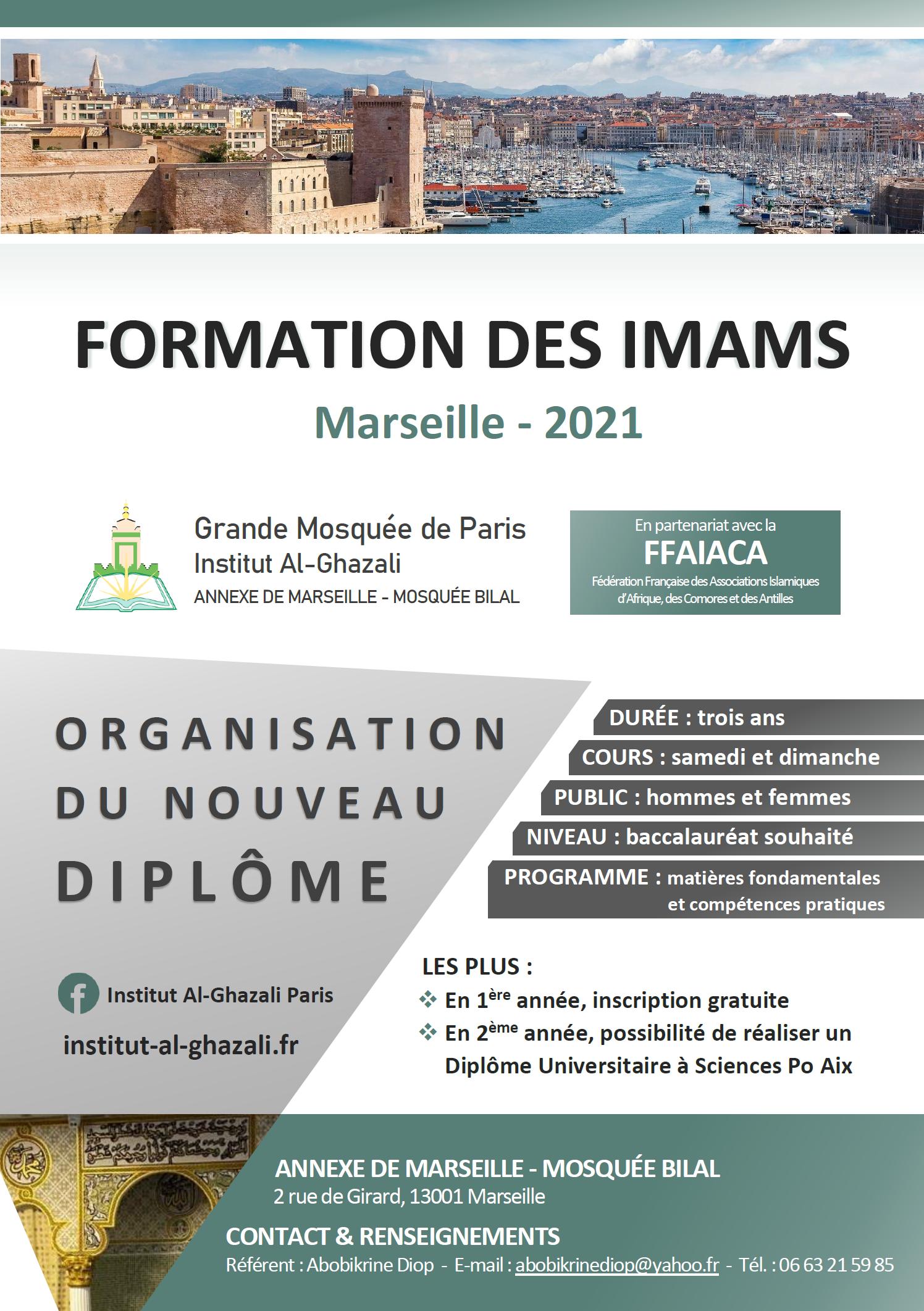 Formation des Imams Al-Ghazali - Présentation - Marseille