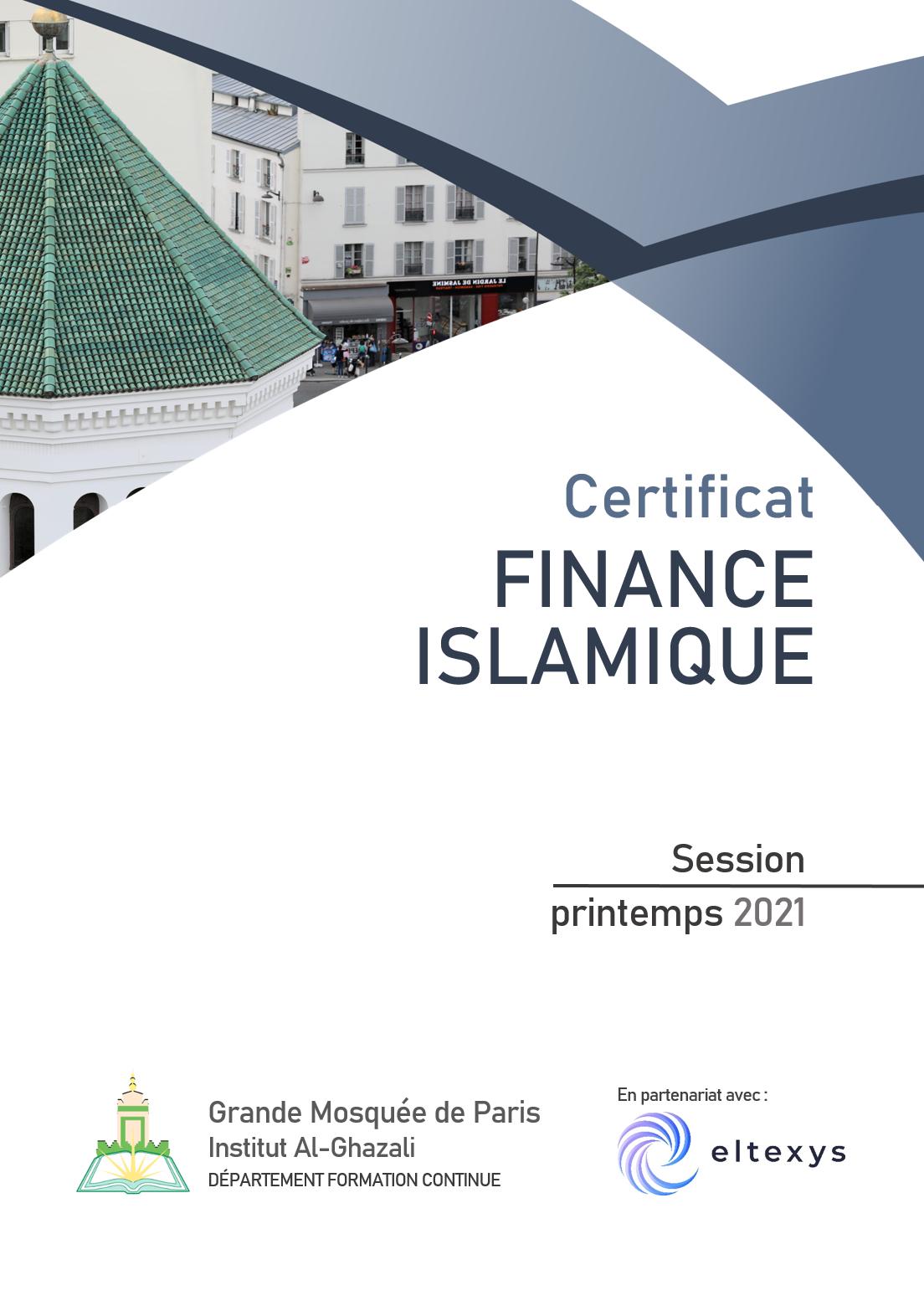 Affiche certificat finance islamique